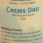 creme-drei-etikett